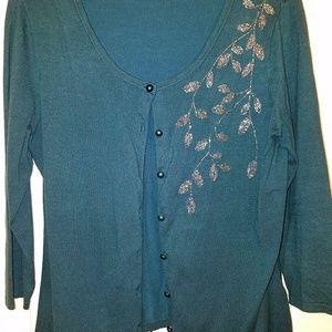 Peter Nygard cardigan button-down sweater  M